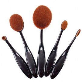 Set 5 pensule machiaj make up ovale rotunde