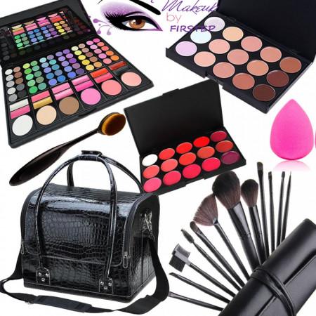 Poze Set machiaj cu geanta make-up + Trusa 78 culori + Concealer + Ruj