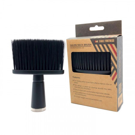 Pamatuf profesional coafor cu maner negru barber