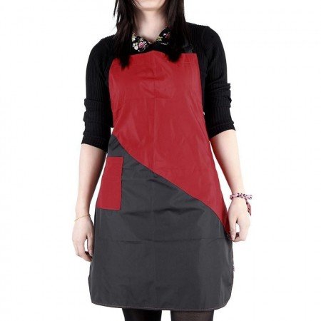 Set complet frizerie coafor Riga cu foarfeca tuns si filat rosu negru brici metalic manta si sort