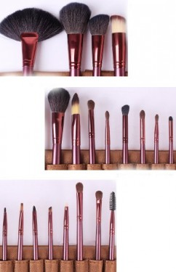 Trusa machiaj 180 nuante + 24 pensule par natural
