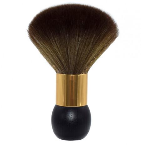 Pamatuf frizerie coafor cu maner rotund din lemn cu auriu Ingrid