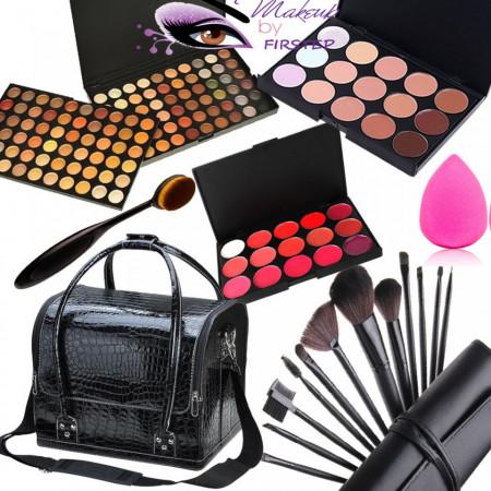 Poze Set machiaj cu geanta make-up + Trusa 120 culori + Concealer + Ruj