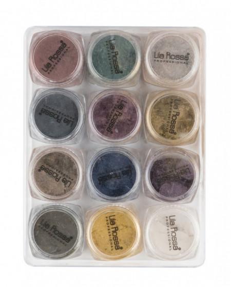 Pudra Cat Eyes 12 culori pentru unghii cu gel AG1203