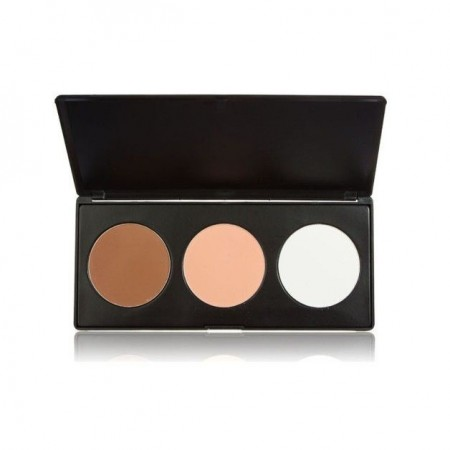 Trusa paleta pudra conturing contur iluminare si blush 3 culori