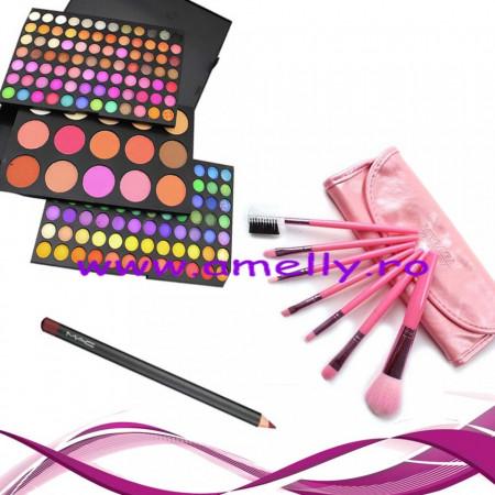 Poze Set machiaj trusa 183 culori si 7 pensule make up