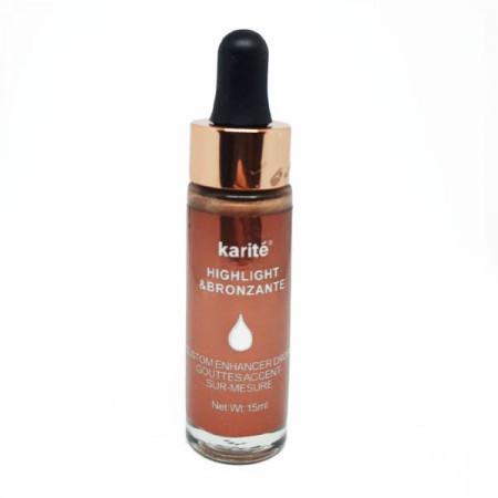 Iluminator highlighter bronzer si Blush lichid picatura Karite