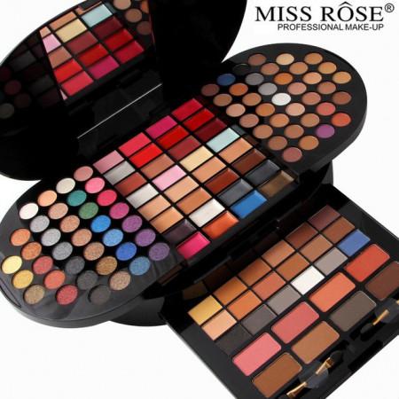 Trusa machiaj profesionala 130 culori Miss Rose