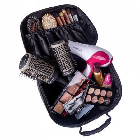 Geanta cosmetice organizator makeup profesional frizerie