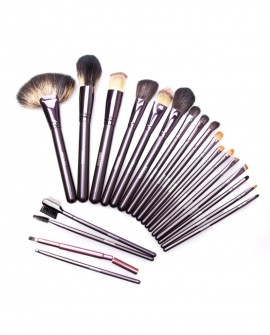Poze Set 21 pensule machiaj make up profesionale par natural cu borseta dubla