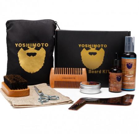 Set ingrijire barba si mustata pentru barbati YOSHIMOTO