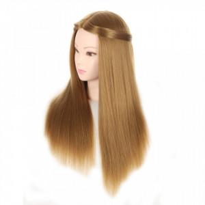 Cap practica CPNATA cu par natural 100% manechin salon frizerie pentru exersat impletituri coafuri
