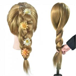Cap practica manechin salon frizerie coafor Lung Des Sintetic 50cm Blond CPB02