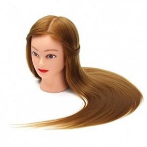Cap practica papusa coafor frizerie manechin PAR Blond NATURAL 55 cm