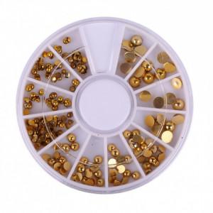 Carusel pietricele aurii pentru decor unghii AJ214