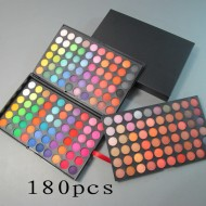 Set make up trusa 180 culori + 12 pensule roz + 15 nuante ruj buze