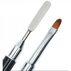 Pensula pentru polygel poligel capat metalic