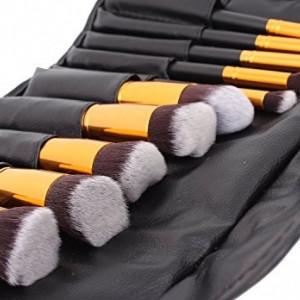 Set 10 pensule make up kabuki blending machiaj pensoane + Borseta