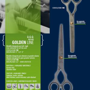 """Set Foarfeca de tuns si filat 6"""" Henbor ITALIA Golden Line pentru frizerie coafor salon"""