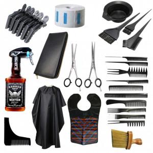 Set kit frizerie coafor BESAM cu foarfeca tuns filat Henbor Italia Top Line