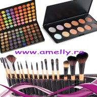Oferta machiaj 120 nuante concealer 10 si 15 pensule make up