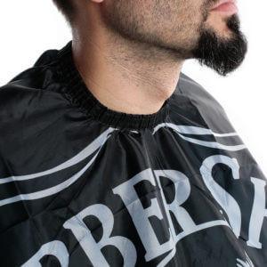 Pelerina manta pentru tuns barbati gri/negru lunga frizerie coafor barber shop