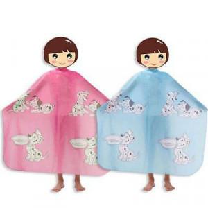 Pelerina manta pentru tuns copii roz frizerie coafor cu catei