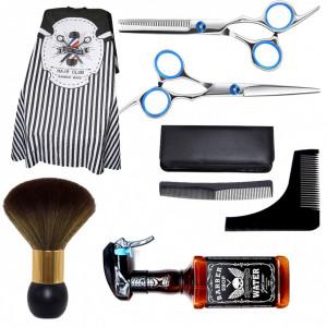 Set frizerie barber shop Vora cu foarfeca de tuns Ardette pulverizator Whisky pelerina