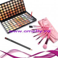 Set make up farduri 120 culori si kit 7 pensule