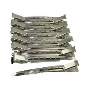 Clipsuri frizerie din metal set 12 bucati profesionale