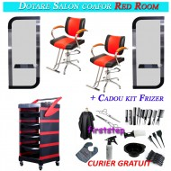 Dotare salon coafor frizerie Red Room