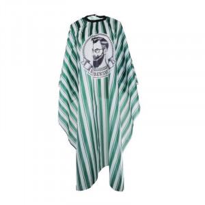 Pelerina manta pentru frizerie coafor lunga cu elastic alb verde