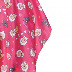 Pelerina mantie manta tus frizerie copii roz pentru fetite