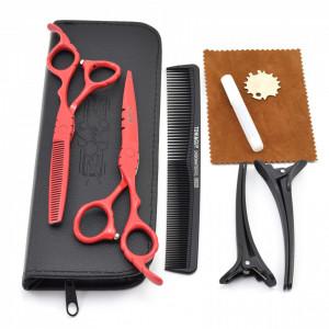 Set profesional foarfeca de tuns si filat Ardette model Opax04 cu gentuta si piepten carbon pentru frizerie salon coafor