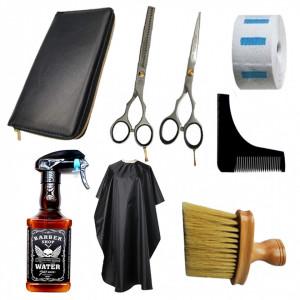 Set ustensile si accesorii frizerie coafor Sigmax cu foarfeca tuns filat