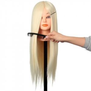 Cap practica manechin salon frizerie coafor sintetic 50cm Blond Deschis