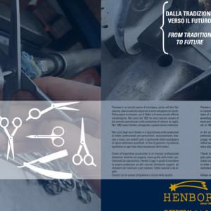"""Foarfeca de tuns 5.5"""" Henbor ITALIA Golden Line pentru frizerie coafor salon"""