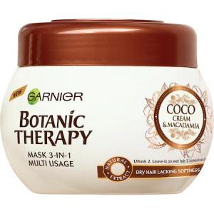 Masca de par Garnier Botanic Therapy Coco Milk & Macadamia pentru par uscat, 300 ml