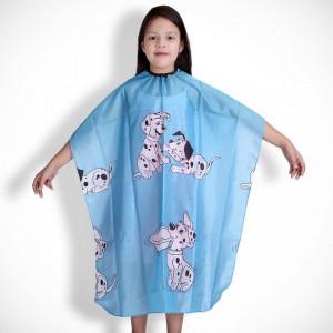 Pelerina manta pentru tuns copii albastra frizerie coafor