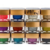 Set 12 geluri colorate Miley sclipici fin
