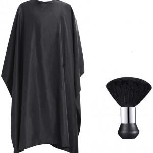 Set frizerie coafor Adriano cu pelerina manta si pamatuf negru