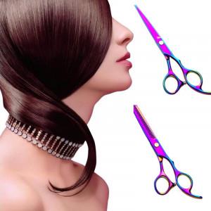 Set ustensile si accesorii frizerie coafor Smartex cu foarfeca tuns filat