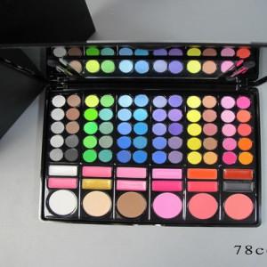 Trusa farduri 78 nuante cu blush si ruj + set 7 pensule make up