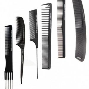 Cap practica manechin salon frizerie coafor Natural 55 cm Saten + 6 Piepteni carbon