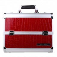 Geanta valiza case beauty bag machiaj unghii false gel Red