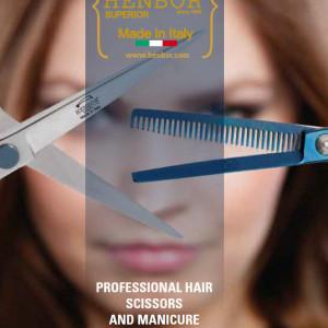 """Set Foarfeca de tuns si filat 5.5"""" Henbor ITALIA Golden Line pentru frizerie coafor salon"""