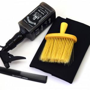 Set frizerie coafor Henbor model Ario08, 4 piese, pelerina, pamatuf, pulverizator, piepten