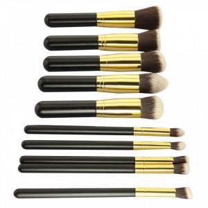 Set pensule pentru machiaj kabuki 10 bucati Lila Rossa