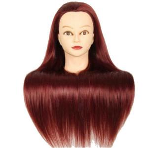 Cap practica manechin salon frizerie coafor sintetic 50cm Roscat intens