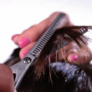 Set foarfeca tuns si filat frizerie coafor Daryl cu brici metalic 10 lame si geanta pentru depozitare